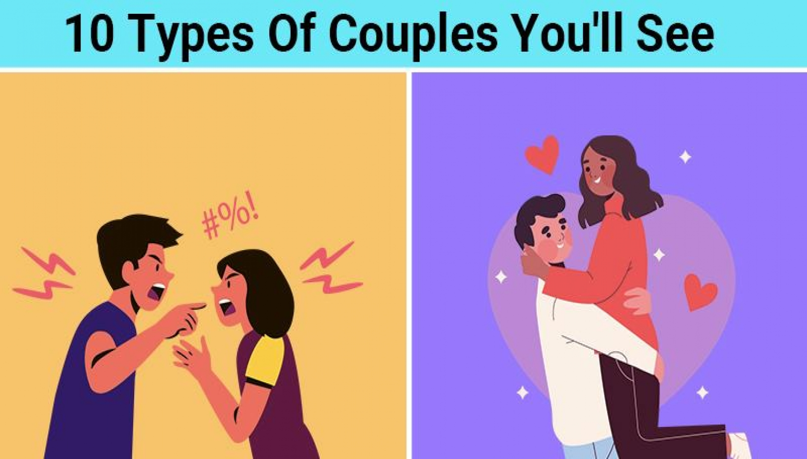 10 Types Of Couples We Have All Witnessed