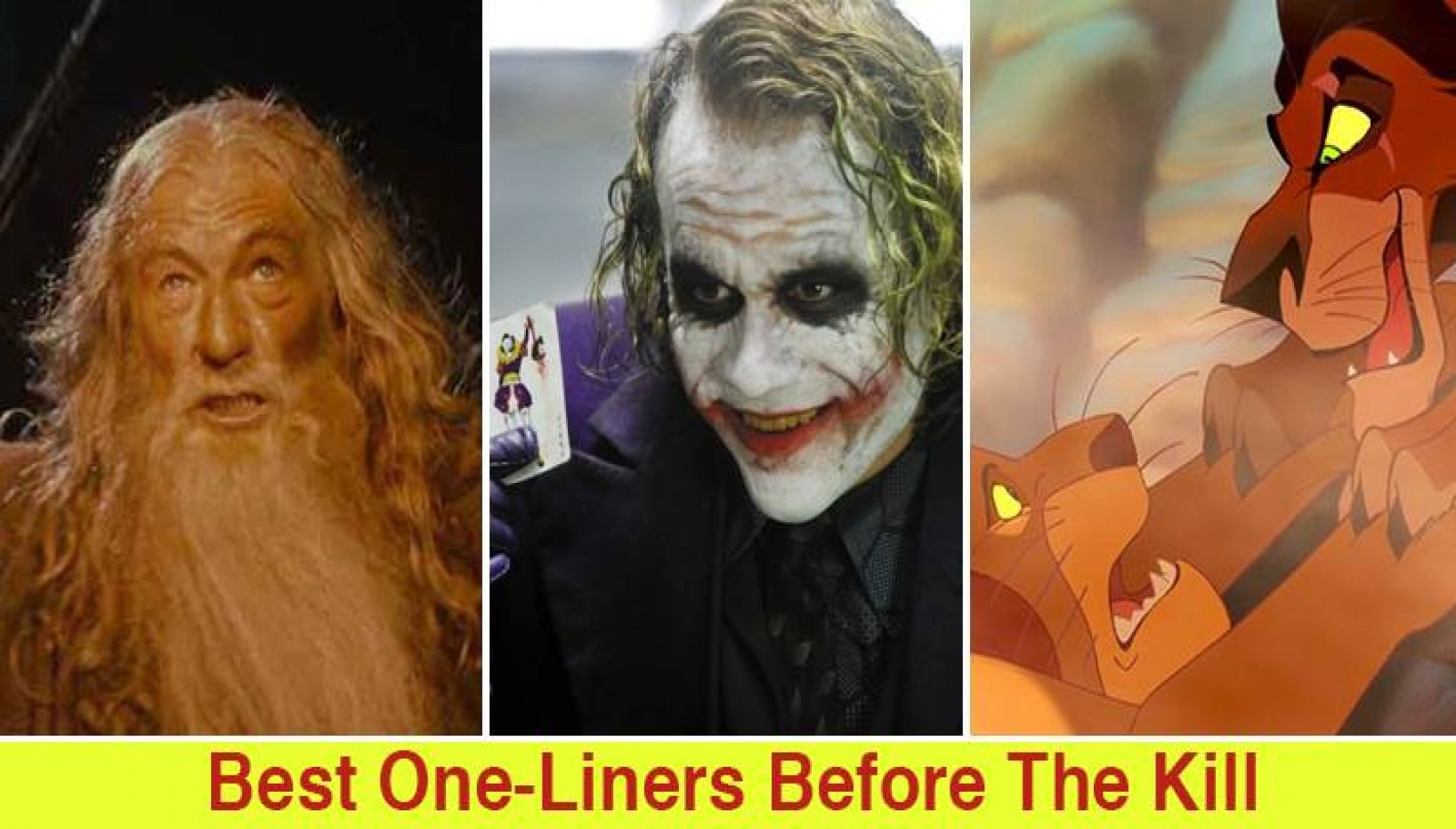 Here Are 20 Of The Best One-Liners Before The Kill