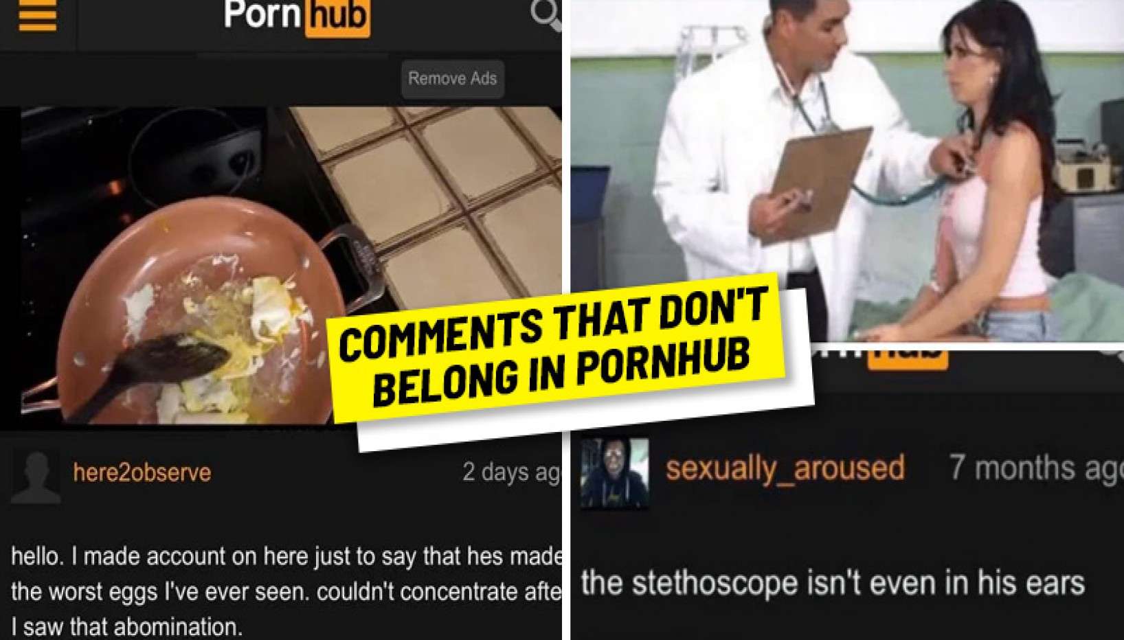 13 Hilarious Comments Spotted On Adult Video Sites That Just Don't Belong