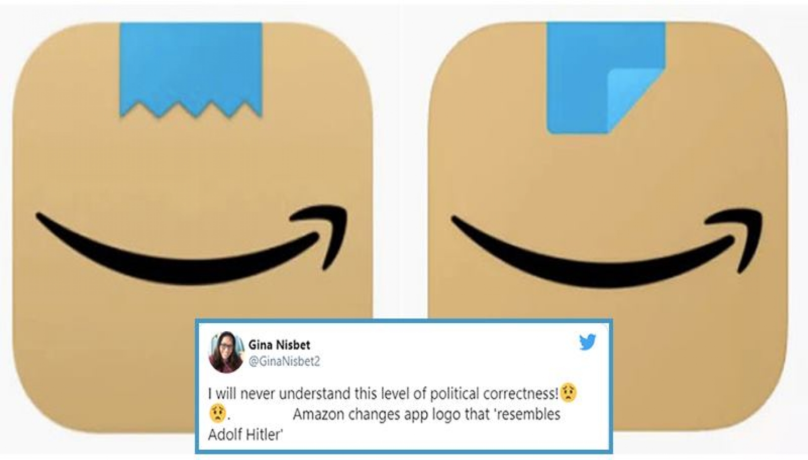 Amazon Changes Its Logo After Realizing Its Resemblance With Hitler's Mustache
