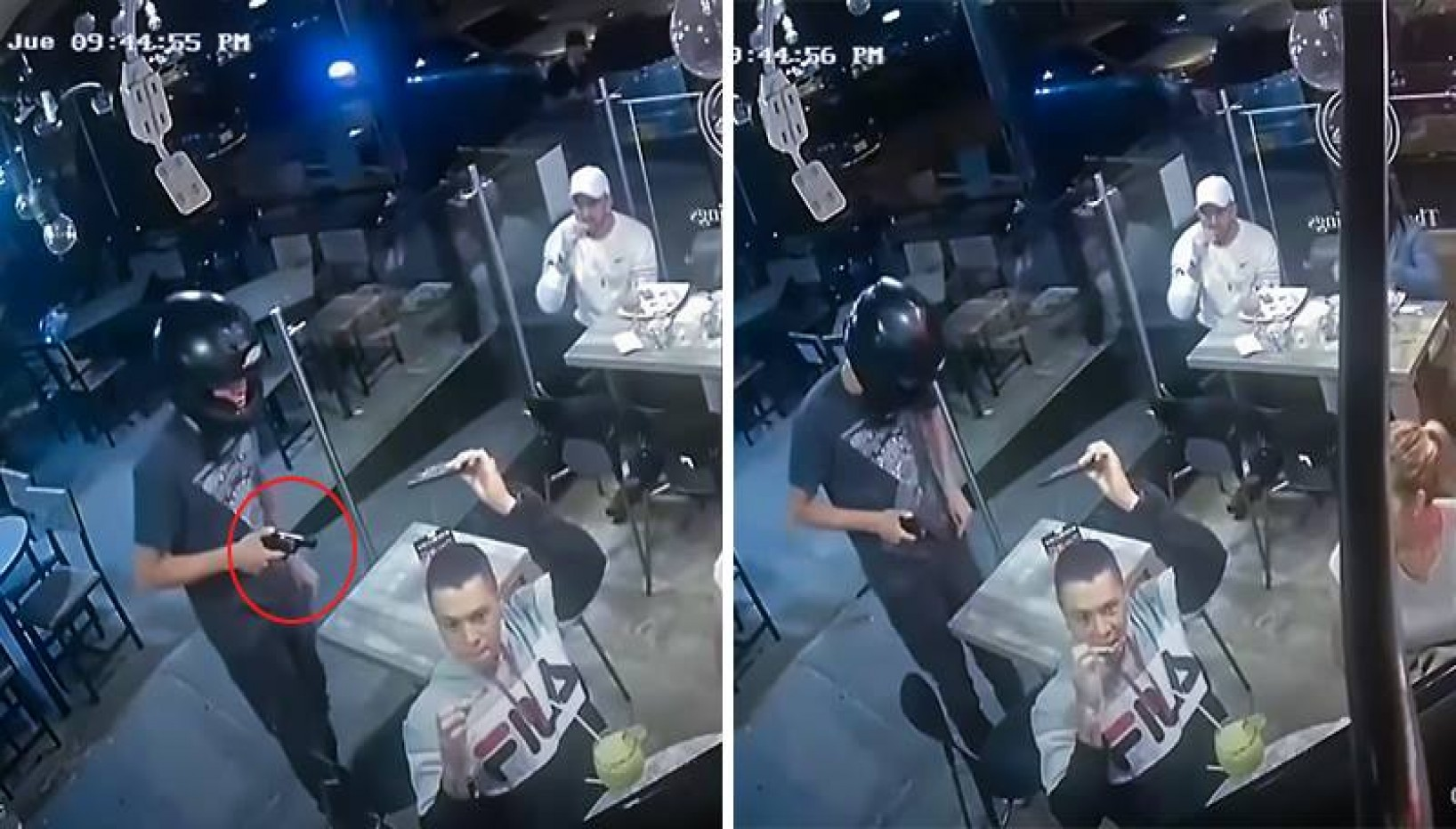Man Calmly Continues Eating Chicken Wings Despite Being Held At Gun Point During A Robbery