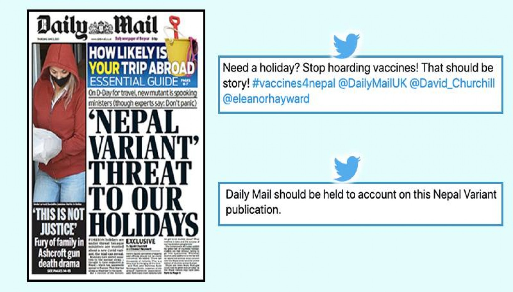 Nepali Netizens Call Out British Tabloid Daily Mail For Misleading 'Nepali Strain' Article