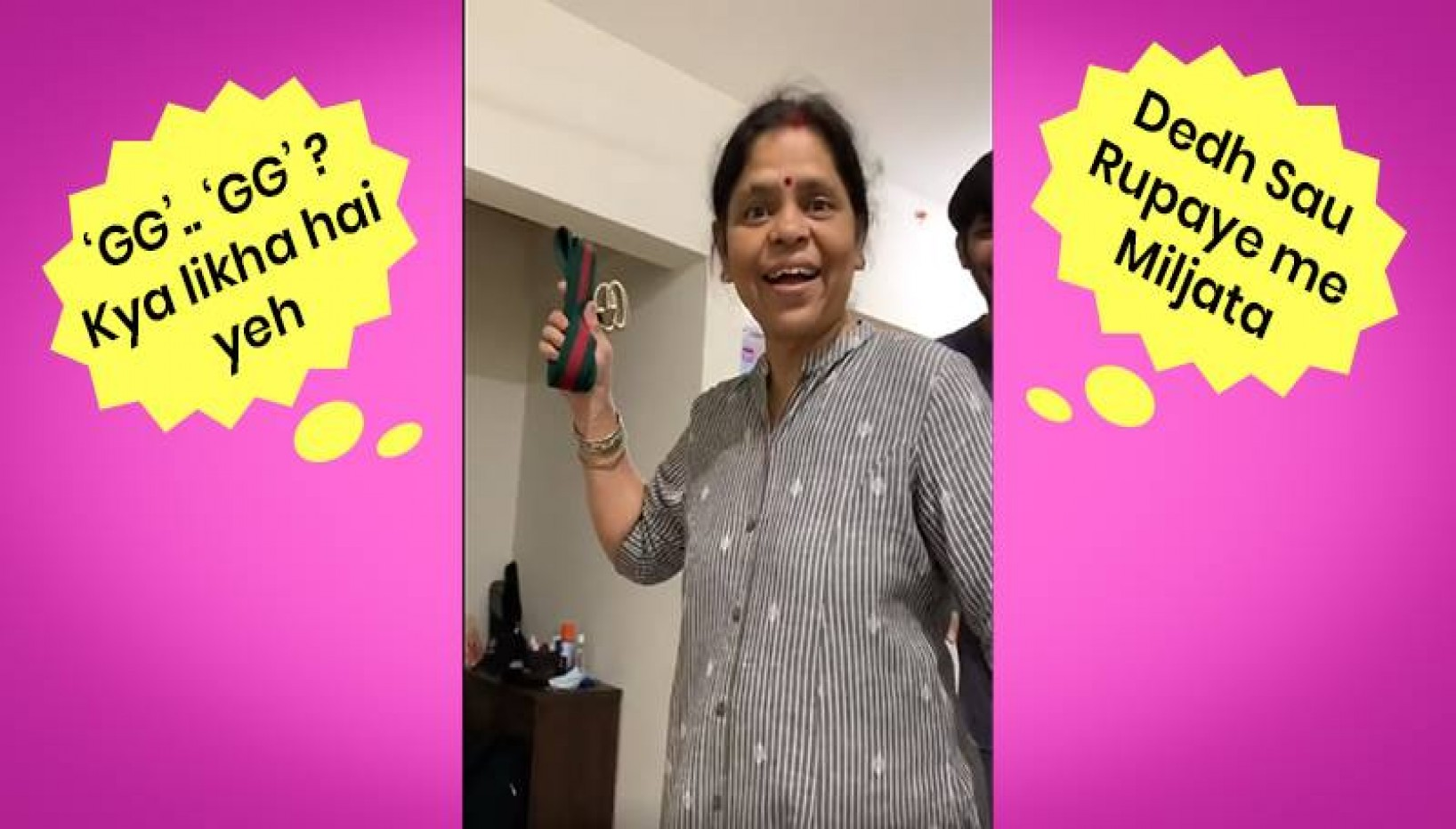 This Desi Mom's Hilariously Relatable Reaction To Her Daughter's Rs. 35,000 Gucci Belt Has Gone Viral
