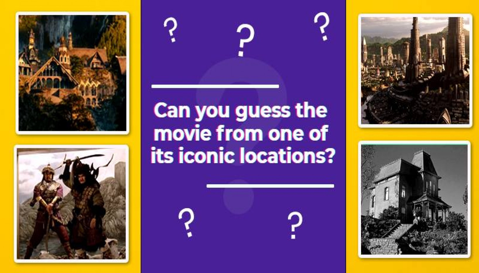 Only An Actual Movie Buff Can Recognize All 10 Of These Movies From Their Iconic Locations