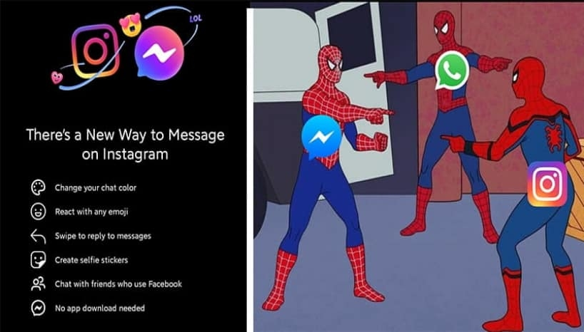 Instagram DMs And Facebook Messenger Have Officially Merged; Instagrammers Welcome It With Memes