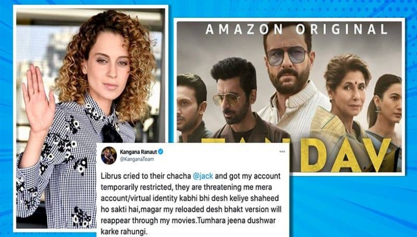Kangana Ranaut Restricted From Twitter For Suggesting The Beheadings Of Tandav Crew