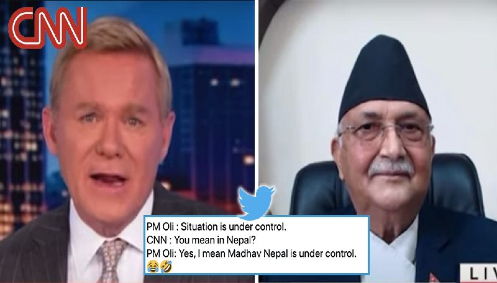 """""""Covid Situation Is Under Control.""""; Here's How Oli's Interview With CNN Went Down"""