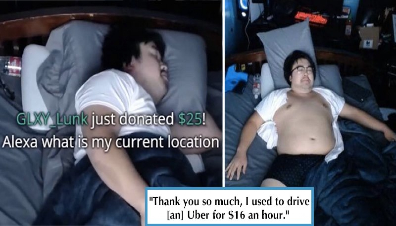 Lazy Money: Twitch Streamer Makes $16,000 Letting People Ruin His Sleep