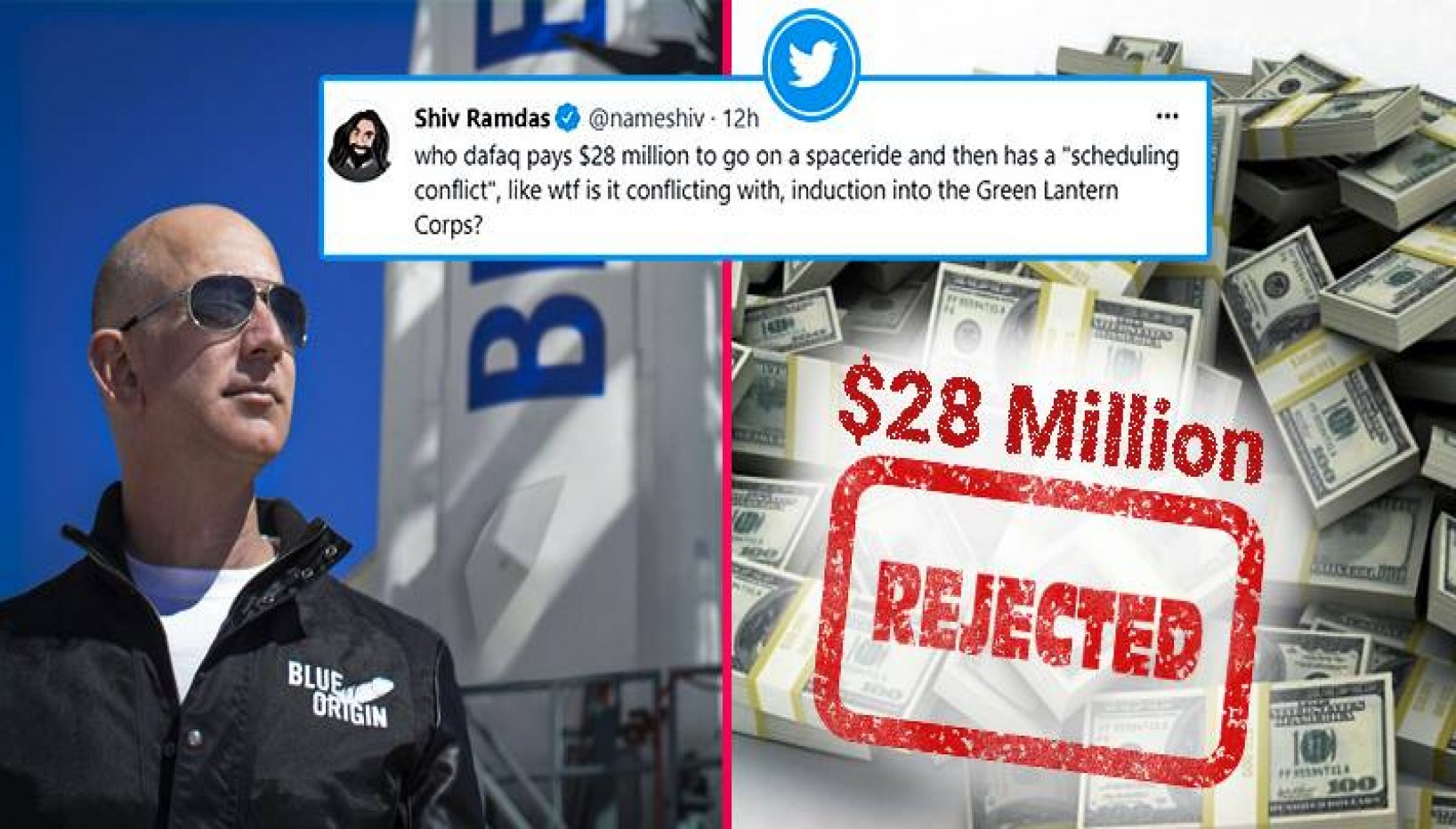 Man Can't Fly To Space With Jeff Bezos Even After Spending $28 Million, Twitter Reacts