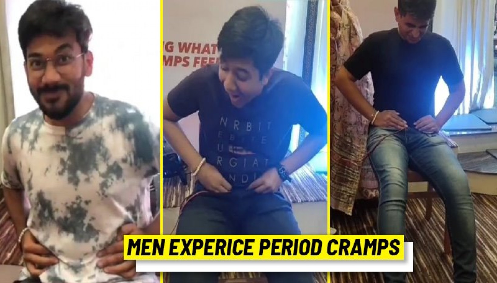 WATCH: Men Experience Period Pain First Hand And Wince In Agony