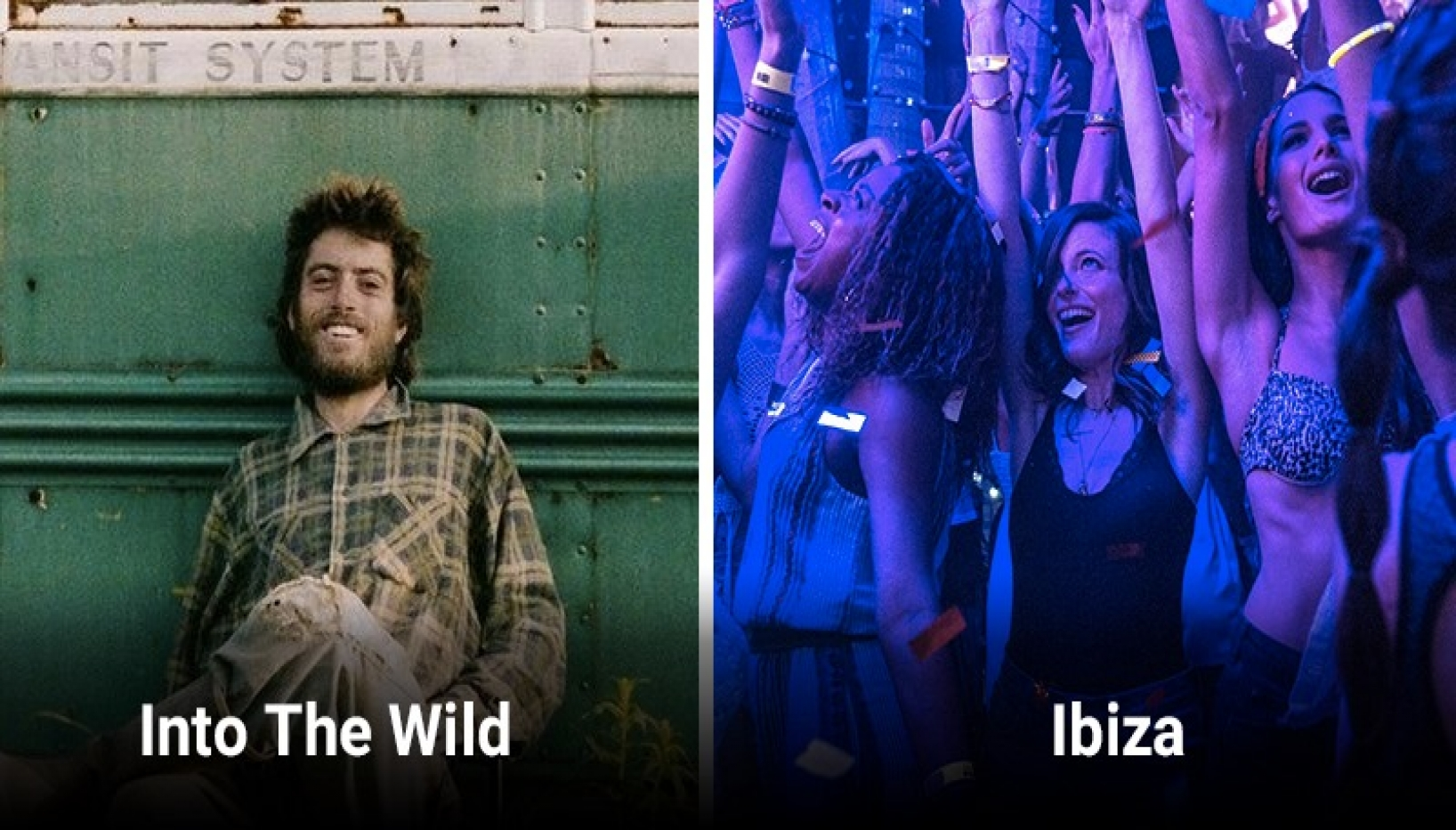 Posters for Into the Wild and Ibiza