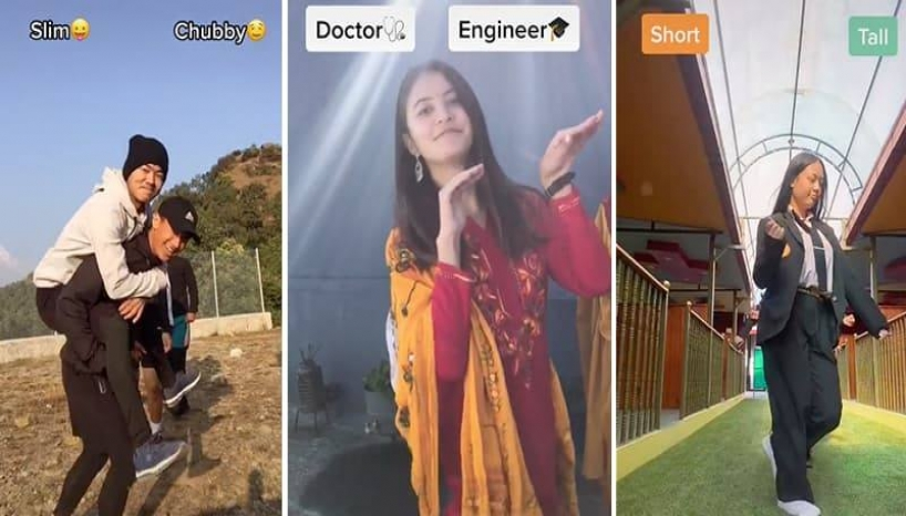 Nepali Tiktokers Join 'It's Tricky' Trend; Express What They Like In Their Partners
