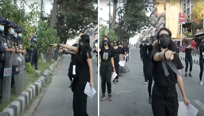 Nepali Youth Activists Protest Against Rape With A Powerful Flashmob Performance Of A Chilean Protest Song