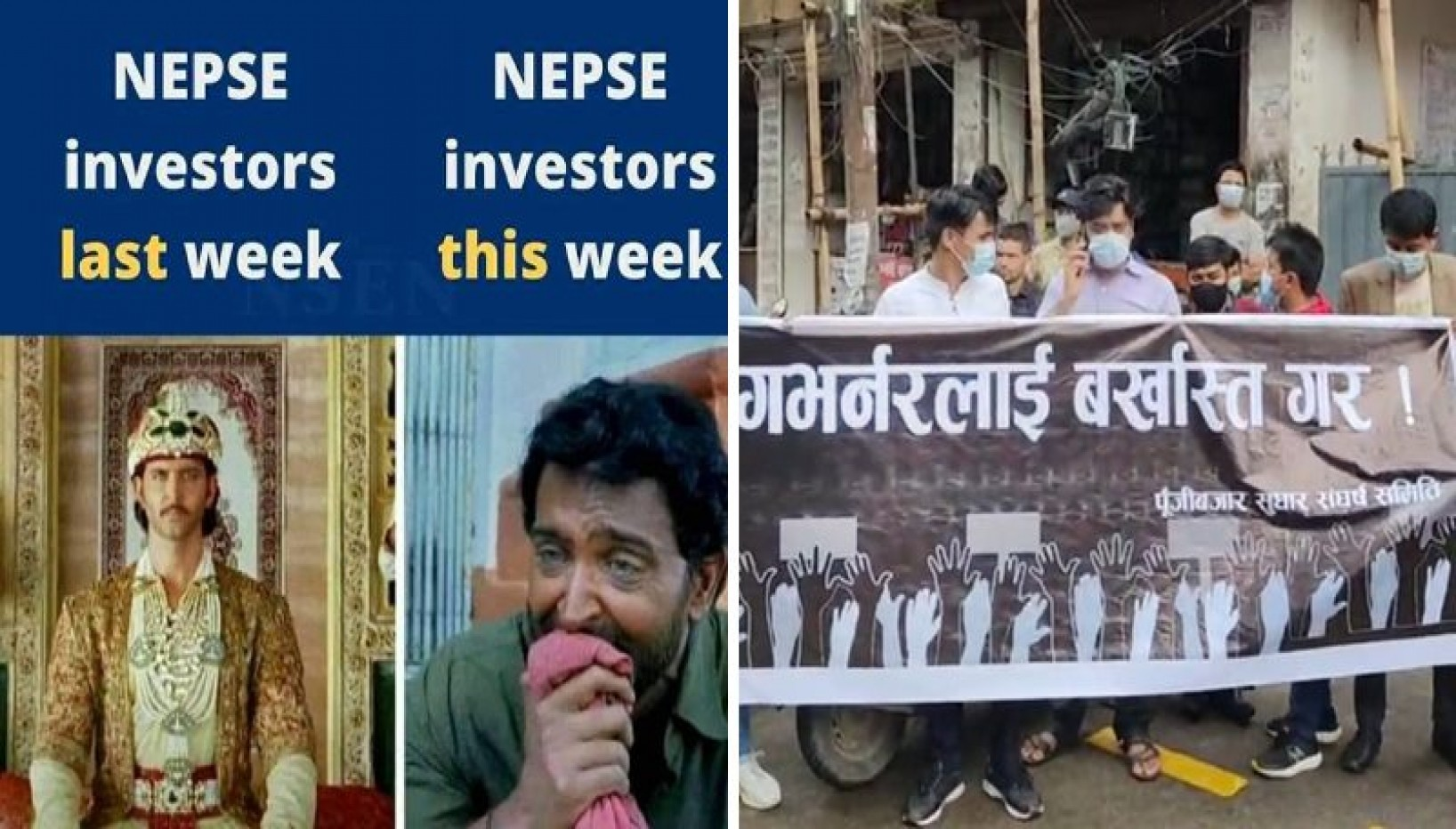The NEPSE Index Had A Massive Freefall Followed By A Miraculous Recovery. Nepalis Are Coping With Memes