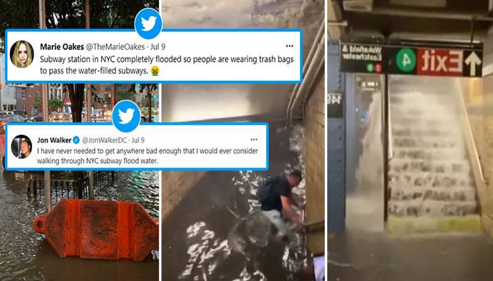 A Subway In NYC Was Flooded Due To Heavy Rain And It's Giving Some Serious Nepal Vibes