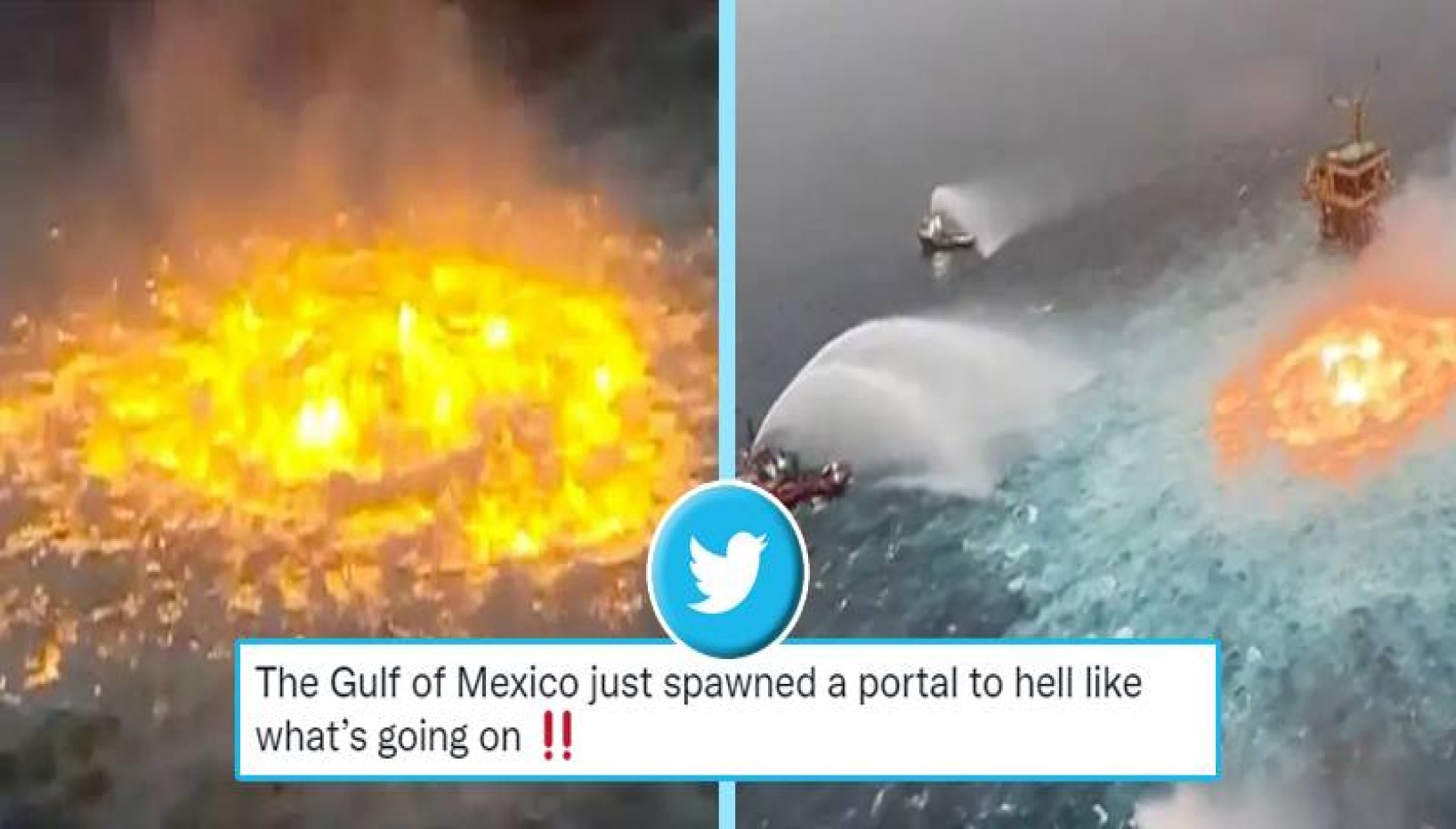 There's A Fire In The Middle Of The Ocean And Twitter Thinks It's Portal To Hell