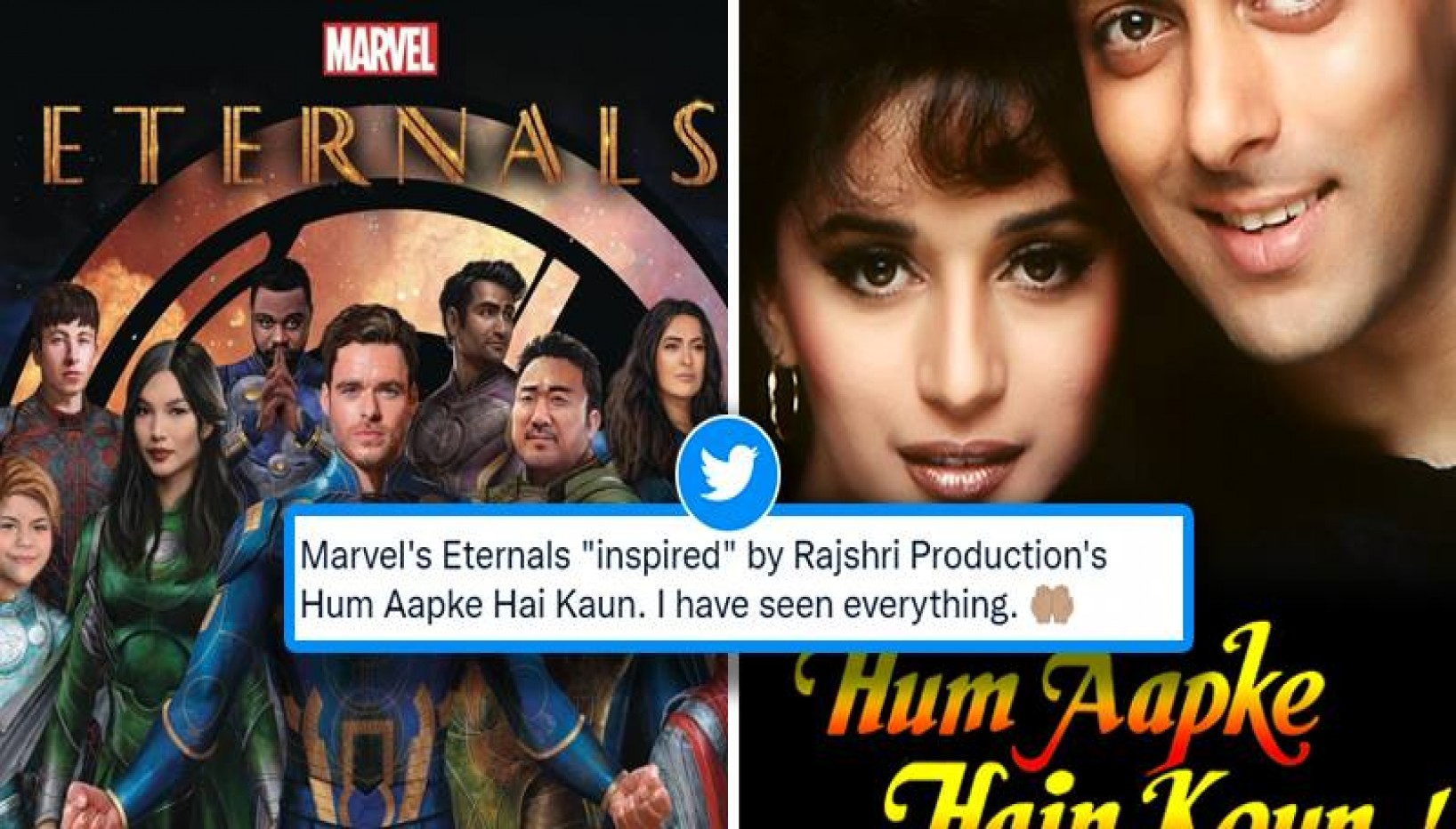 Is The Theme For The Eternals Inspired From Hum Aapkey Hai Kaun? Indian Twitter Thinks So