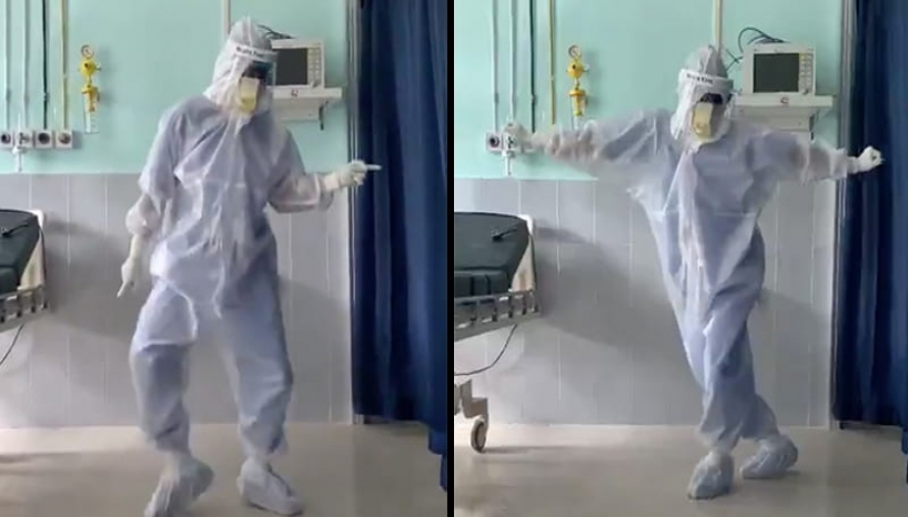 Watch How This Doctor Shows His Dance Moves To Make His Covid Positive Patients Happy