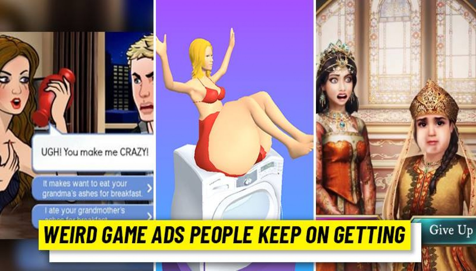 Weird Game Ads People Keep on Getting