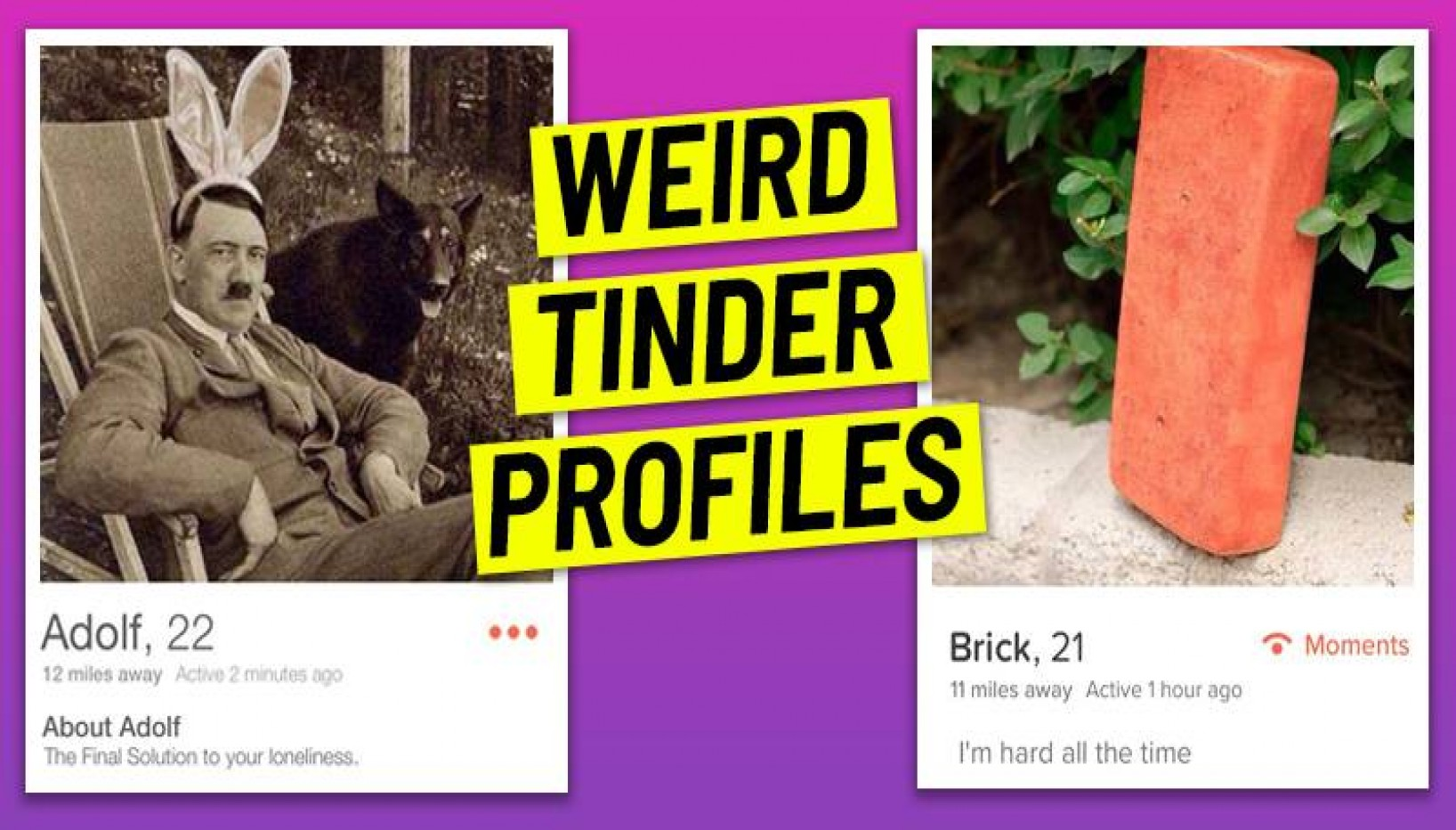 12 Weirdest Tinder Profiles You Have To See To Believe