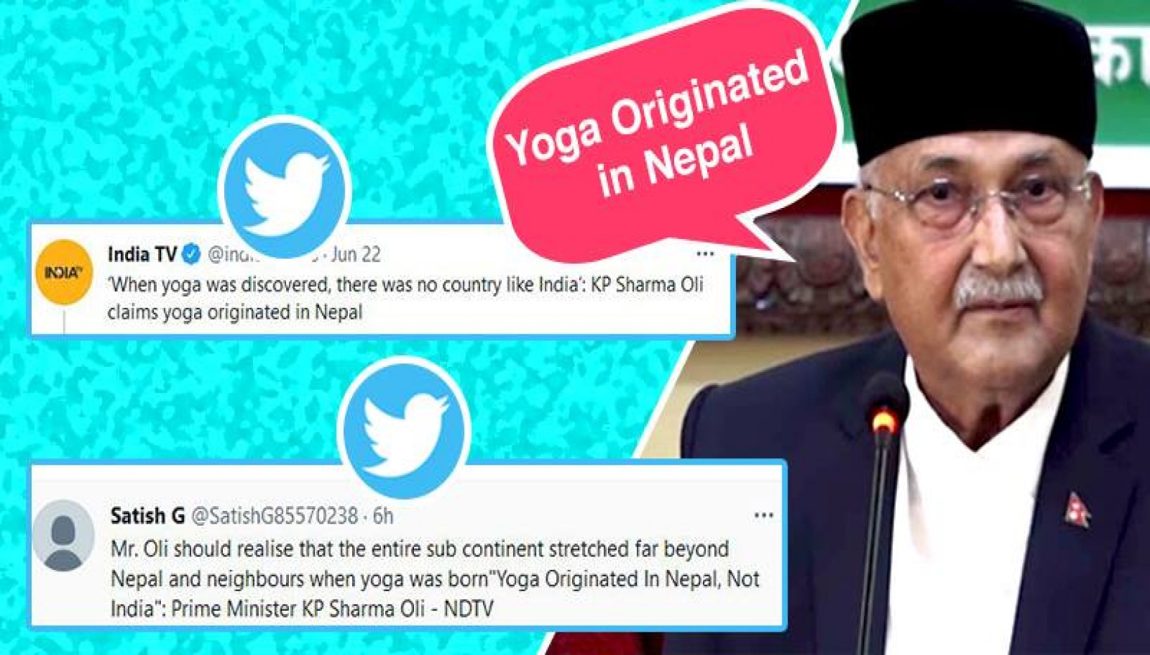 KP Oli Claims Yoga Was Born In Nepal, Twitter Reacts With Memes