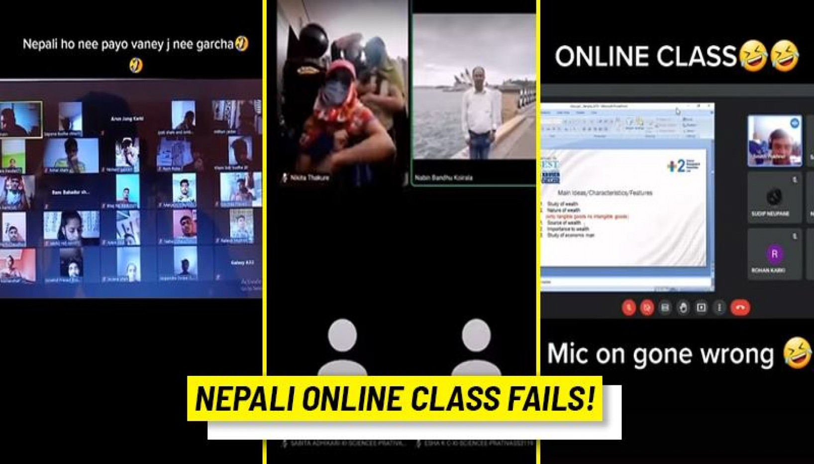 What Goes On In Nepali Online Classes? Here Are Some Hilarious Zoom Moments From Online Classes